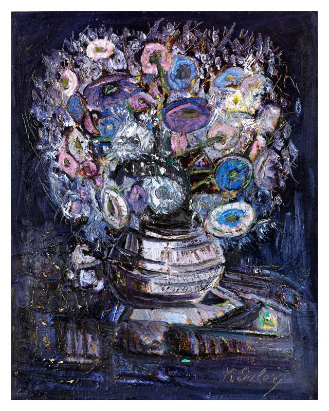Purple Flowers / Mor Buke