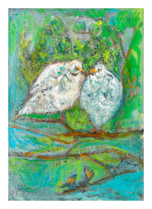 Lovebirds on Branch / Daldaki Dostluk