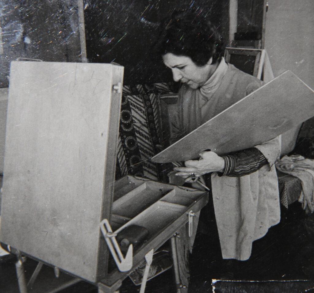 Kristin Saleri at her studio