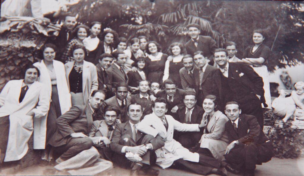 Group picture, center last row, Kristin Saleri.